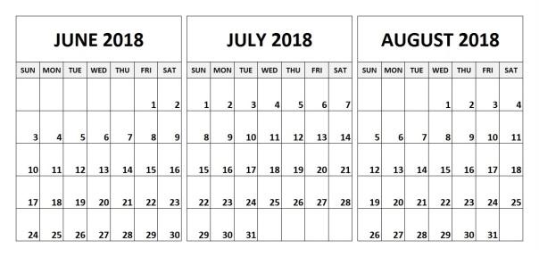 June-July-August-2018-Calendar